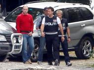 Foto de Breivik em reconstituição divulgada pela polícia norueguesa