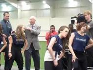 Bobby Charlton na pista de dança