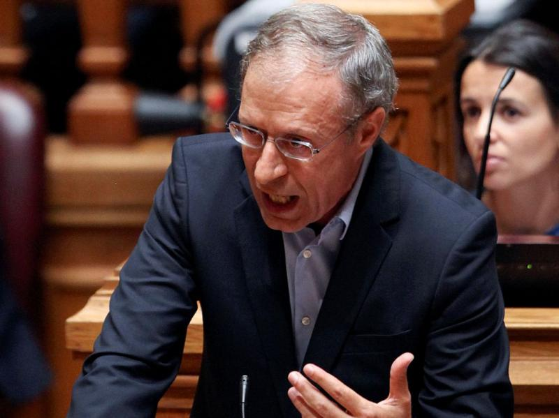 Francisco Louçã no debate quinzenal [TIAGO PETINGA / LUSA]