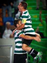 João Pereira e Van Wolfswinkel (Mário Cruz/Lusa)