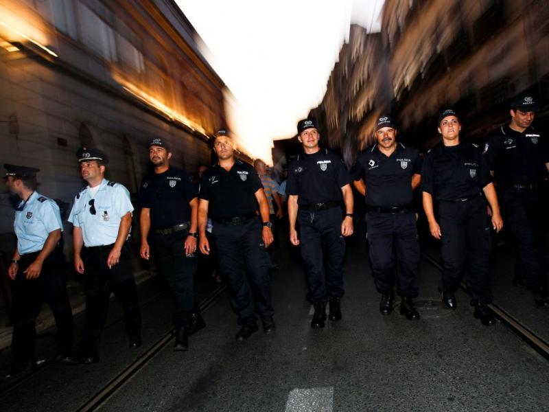 Polícias em protesto [LUSA]