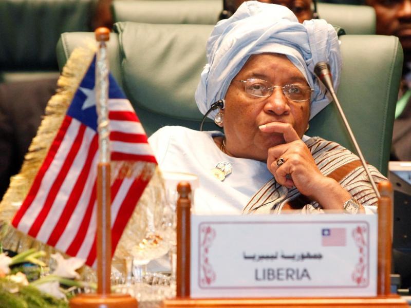 Ellen Johnson Sirleaf, presidente da Libéria [Foto: Reuters]