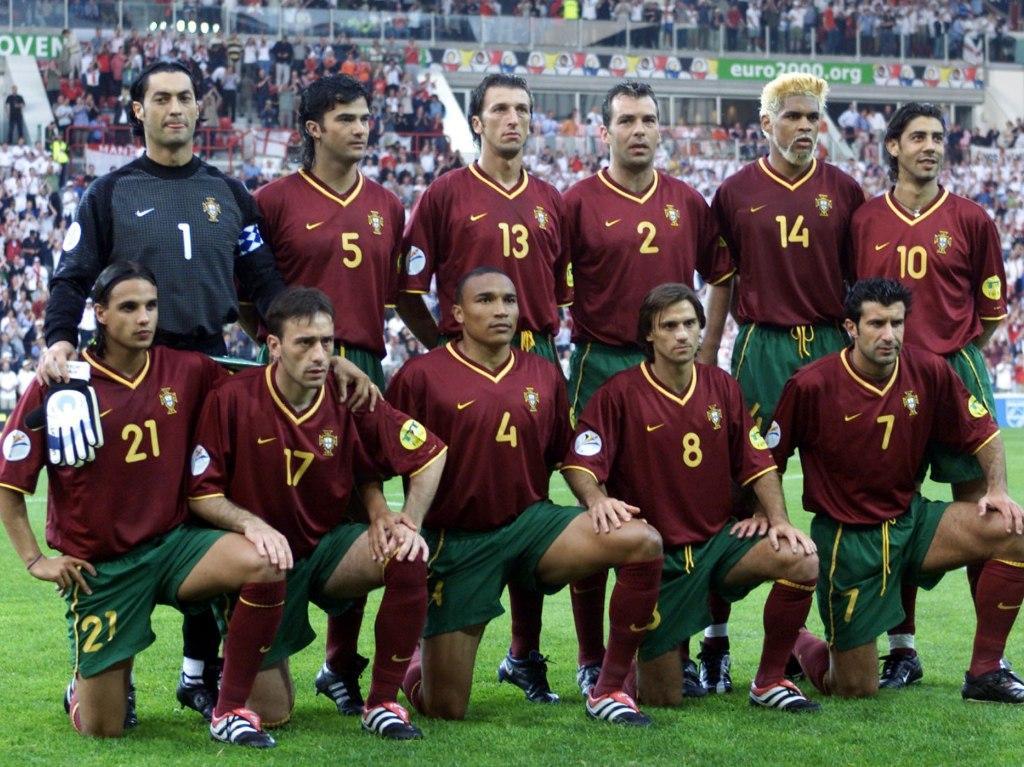 Euro 2000: o onze de Portugal para a Inglaterra