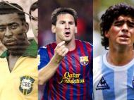 Pelé, Messi e Maradona