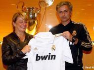 Maria das Dores Meira e José Mourinho (Foto Real Madrid)