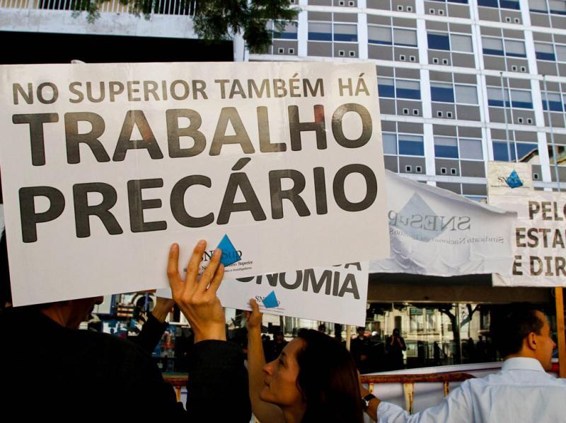 Professores do ensino superior protestam em Lisboa (Paulo Cordeiro/Lusa)