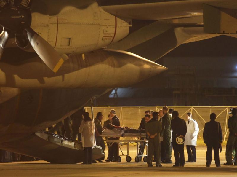 Feridos da Líbia chegam a Portugal (Miguel A. Lopes/Lusa)