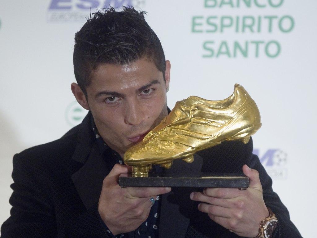 Cristiano Ronaldo recebe a Bota de Ouro