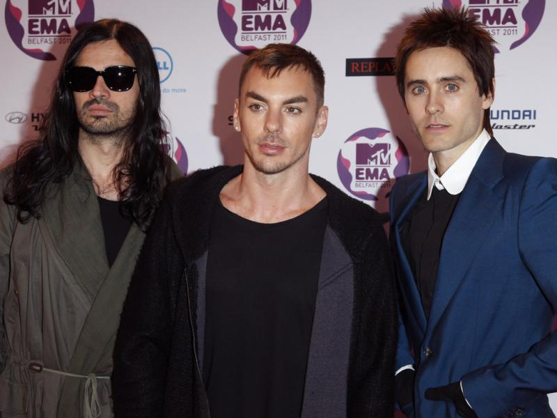 30 Seconds To Mars nos MTV Europe Music Awards (foto: Reuters)