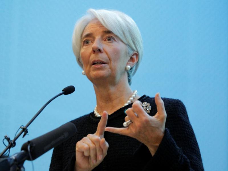 Christine Lagarde em Moscovo