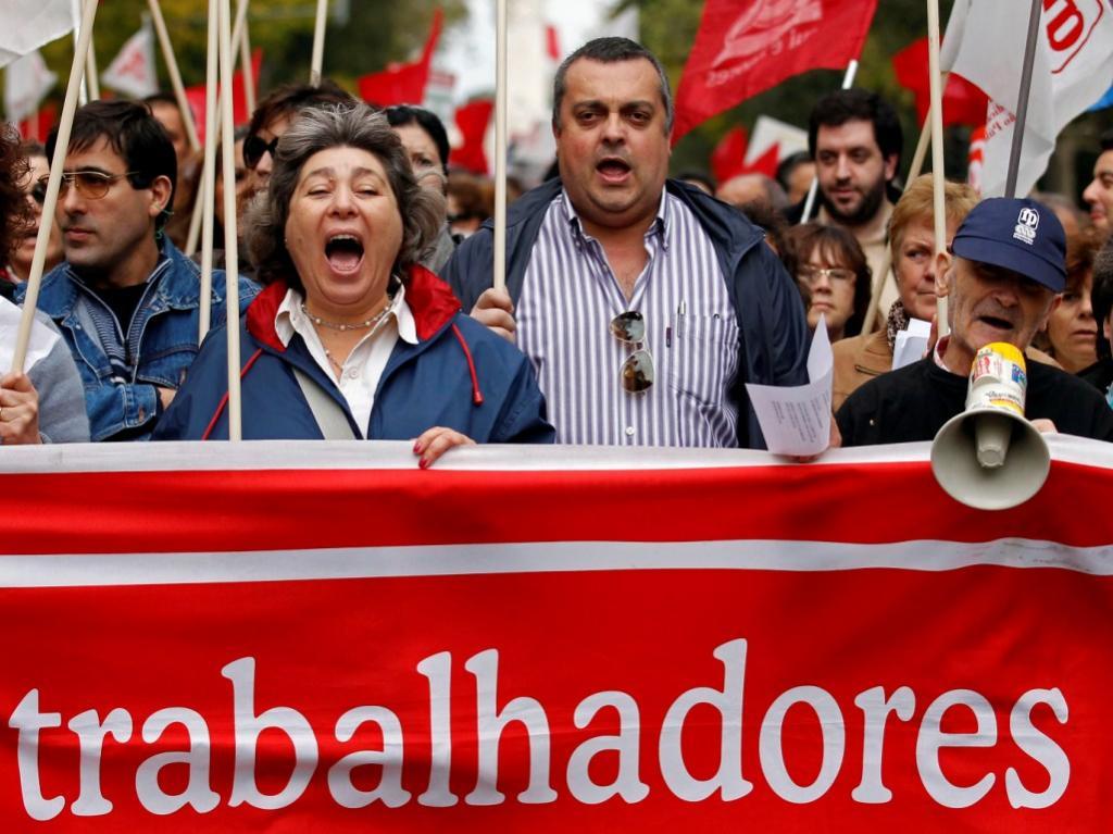 Manifestação dos funcionários públicos [Reuters]