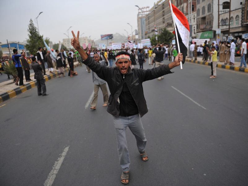 Protestos no Iémen [EPA]