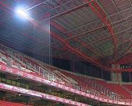 A rede no estádio da Luz