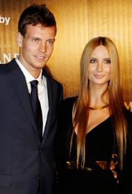 Ester Satorova, companheira de Tomas Berdych (Reuters)