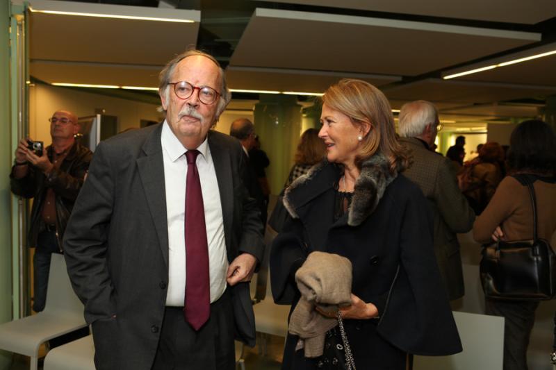 Carlos Monjardino e Maria João Salgado/Lancamento do catálogo de Gerard Castelo Lopes Fotos: Artur Lourenço