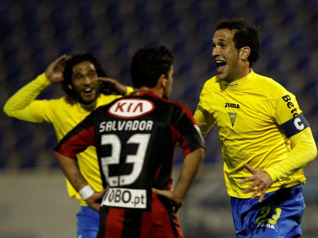 João Coimbra festeja golo do Estoril (LUSA/Paulo Cordeiro)