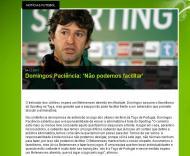 Domingos no site do Sporting