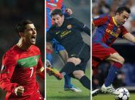 Cristiano Ronaldo, Messi e Xavi