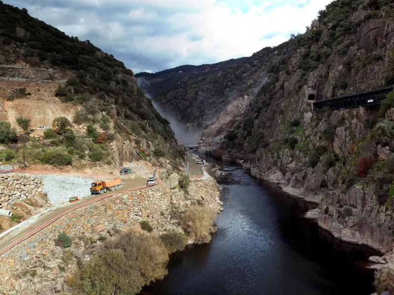 Construção da barragem do Tua [Manuel Teles/LUSA]
