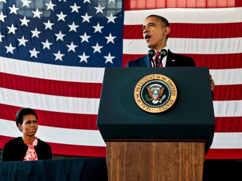 Obama em cerimónia que marca fim da guerra no Iraque (EPA/Sgt. David William McLean )