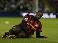 Yaya Touré depois de mais um remate...ao lado