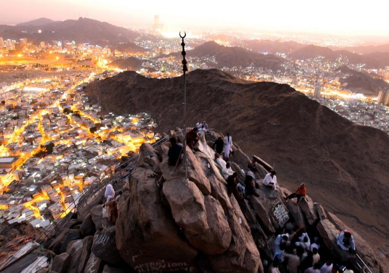 Best Of Novembro 2011: Vista aérea sobre Mecca e as montanhas Hejaz na Arábia Sáudita (EPA/AMEL PAIN)