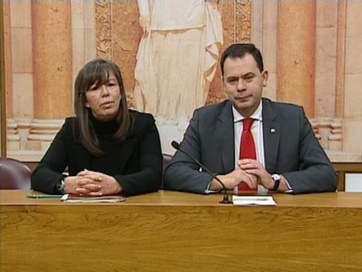 Teresa leal Coelho e Luís Montenegro