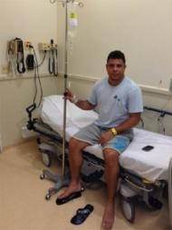 Ronaldo no hospital com dengue