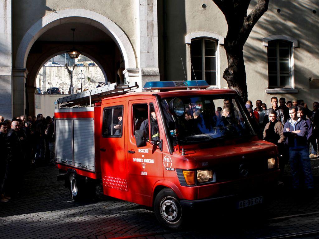 Protesto de bombeiros em Lisboa