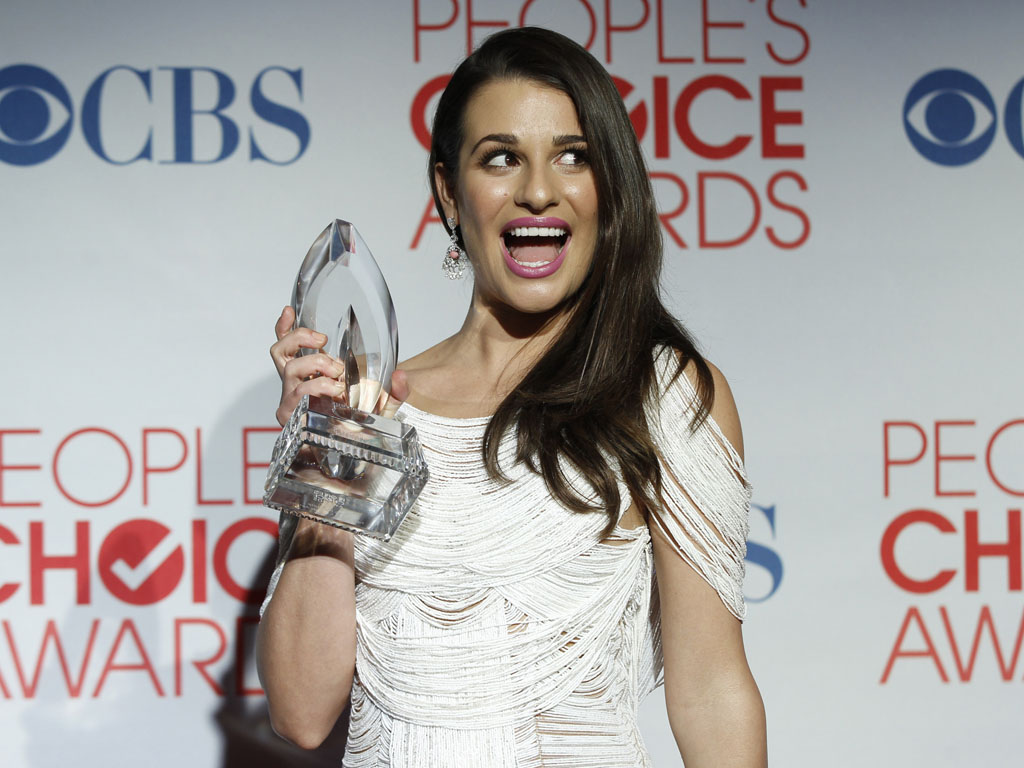 Lea Michele nos People`s Choice Awards 2012 (Reuters)
