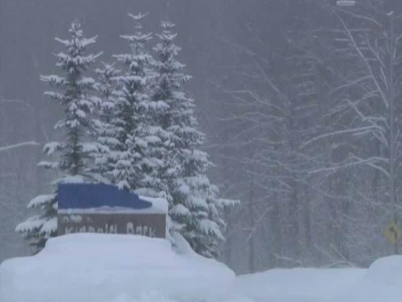 Neve no Alasca