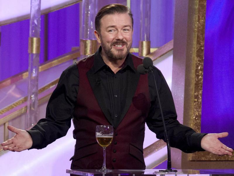 Ricky Gervais nos Globos de Ouro 2012 (EPA)