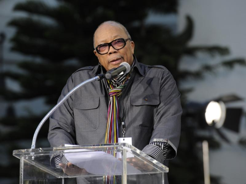Quincy Jones na homenagem a Michael Jackson em Hollywood (Reuters)
