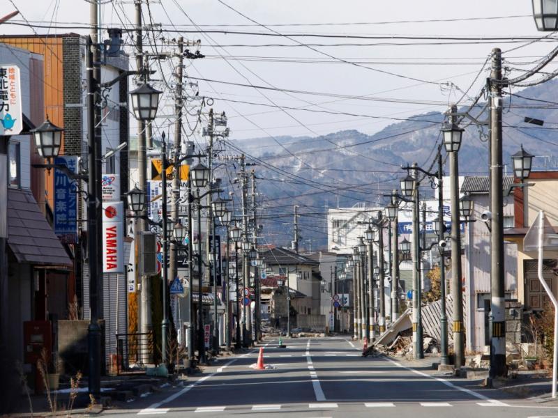 Japão: cidades fantasma em Fukushima (Foto: Reuters)