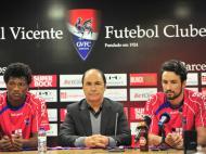 César Peixoto e Zé Luís apresentados (Foto: Dario Silva)