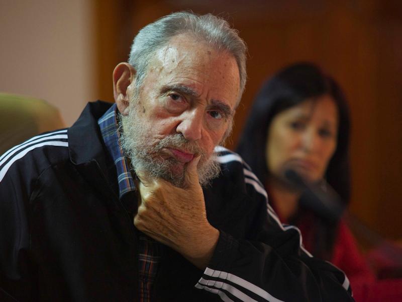 Fidel presente na apresentação da sua biografia (Cubadebate/REUTERS)
