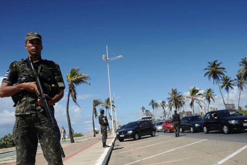 Crime em período de greve da polícia no Brasil (REUTERS)