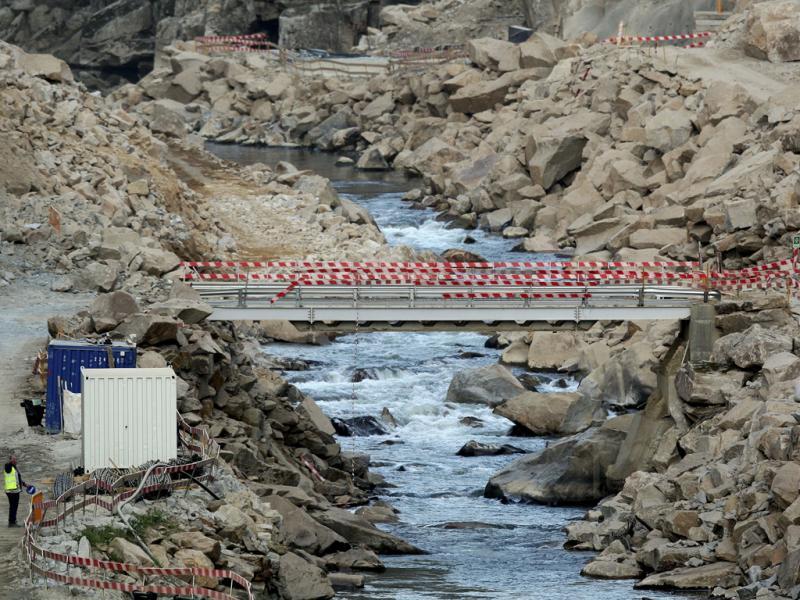 Barragem de Foz Tua: acidente faz cinco feridos (ESTELA SILVA/LUSA)