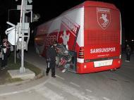 Autocarro do Samsunspor depois do acidente