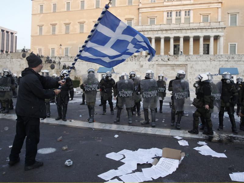 Confrontos na Grécia