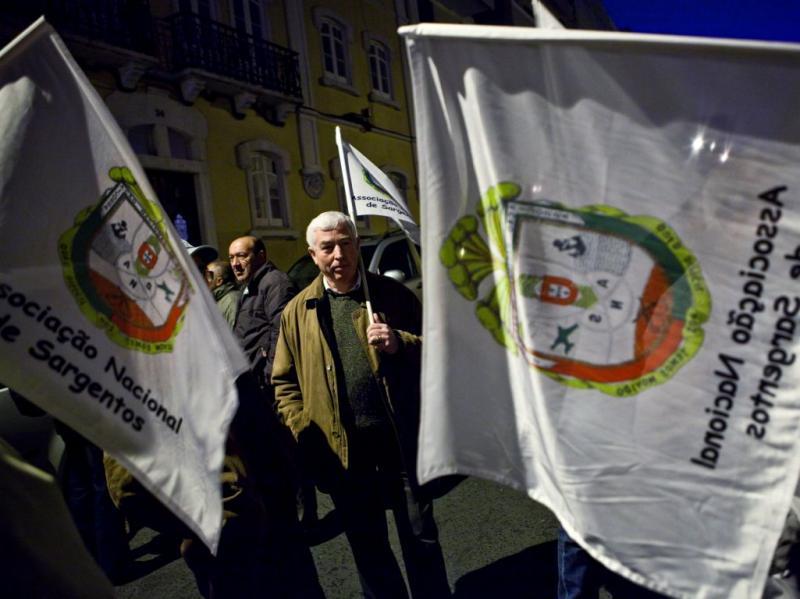 Protesto de Sargentos em São Bento (JOSE SENA GOULAO/LUSA)
