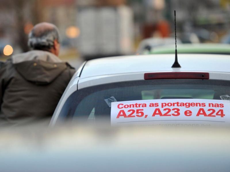 Buzinão em Viseu contra as portagens (NUNO ANDRE FERREIRA/LUSA)