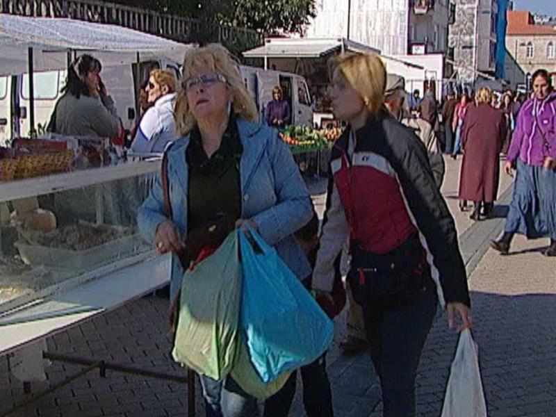 Comércio em Tui, Espanha