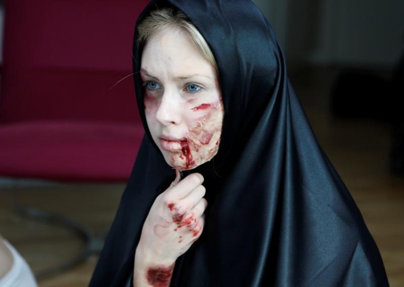 Nuas contra a violência doméstica - Reuters/Osman Orsal