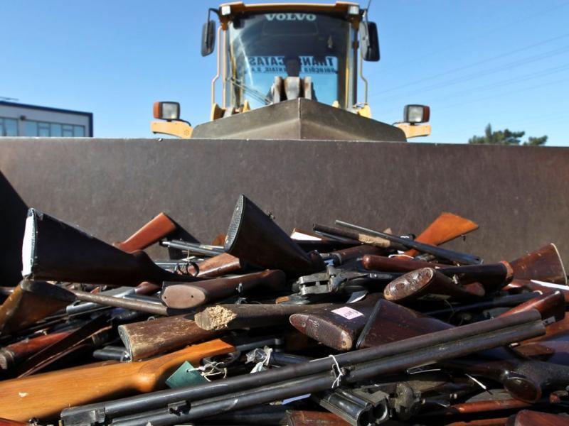 Mais de 4 mil armas destruídas (JOSE SENA GOULAO / LUSA)