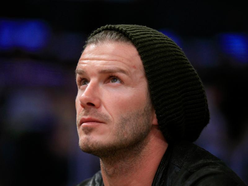 Em Jogo: Beckham assiste a um jogo dos Lakers