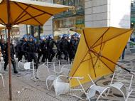 Confrontos no Chiado durante manifestação [Foto: Reuters]