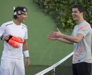 Cristiano Ronaldo defronta Rafael Nadal Fotos DR