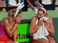 Maria Kirilenko e Nadia Petrova vencem em Key Biscaine [EPA]