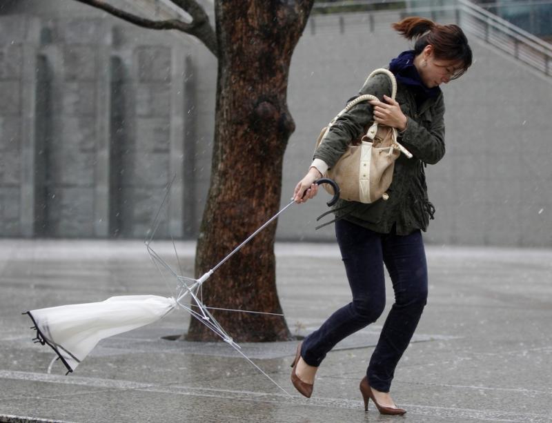 Ventos fortes no Japão (REUTERS/Yuriko Nakao)